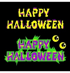 Halloween sign holiday greeting and original text vector