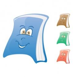 happy book vector image