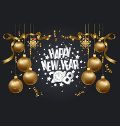 happy new year 2018 background with christmas vector image