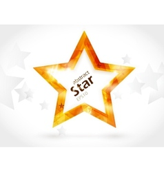 shiny golden star vector image vector image