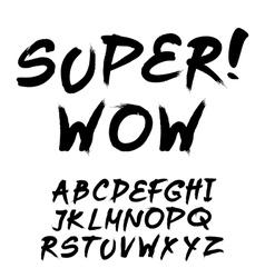 Trendy hand-drawn watercolor alphabet - lowercase vector