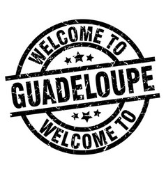 welcome to guadeloupe black stamp vector image vector image