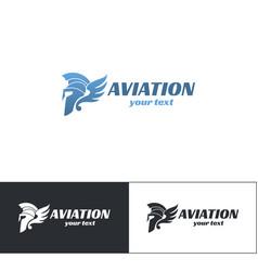 aviation logo design six vector image vector image