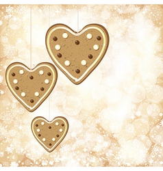 Christmas background with golden lights and vector image vector image