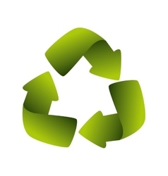 recycling symbol green ecology vector image
