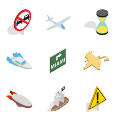 search location icons set isometric style vector image