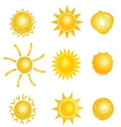 sun set drawing vector image