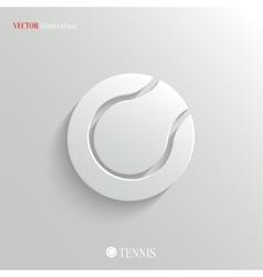 Tennis icon - white app button vector image