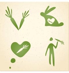 vegetarian symbols vector image