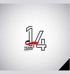 14 years anniversary logotype simple design vector
