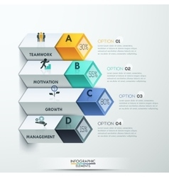 Abstract 3d diagram infographics options vector image