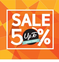 ale Uo To 50 Percent Banner vector image