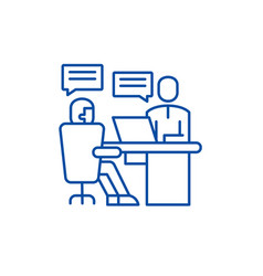 Analytics department line icon concept analytics vector