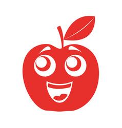 Apple happy kawaii character vector
