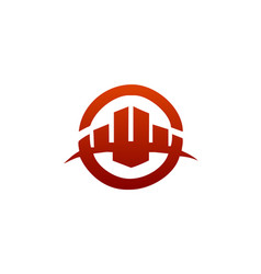 Architectural construction logo real estate and vector
