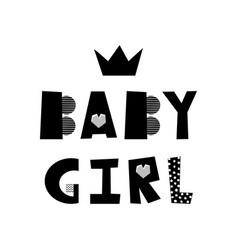 Baby girl lettering vector