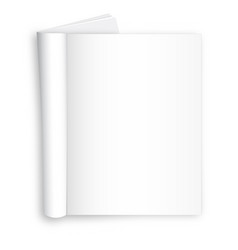 Blank realistic spiral notepad notebook isolated vector