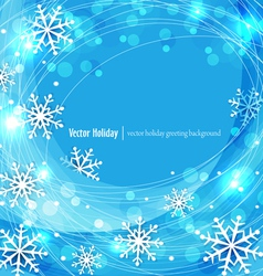 blue christmas background with snowflakes vector image