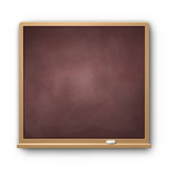 brown square chalkboard vector image