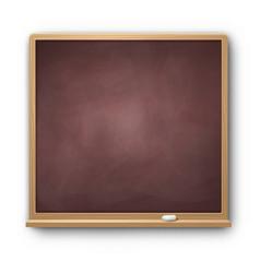 Brown square chalkboard vector