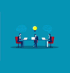 business meeting on table create idea team leader vector image