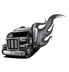 cartoon semi truck one-click repaint vector image