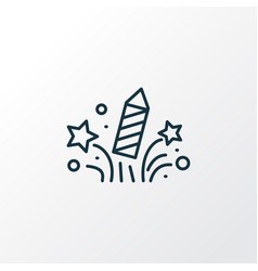 celebration icon line symbol premium quality vector image