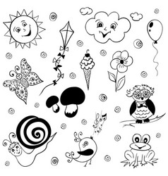Childish doodles vector