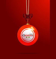 Christmas bingo lottery bauble on red background vector
