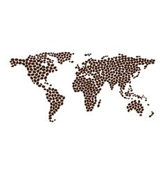 Coffee map design from beans vector