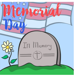Collection design memorial day colorful design vector