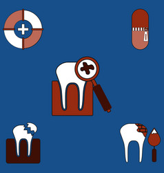 Collection of icons and teeth health vector