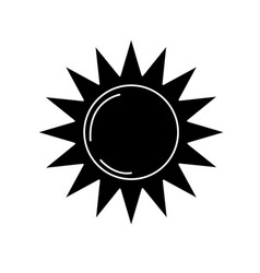 Contour sun light to sunny weather on vacation vector
