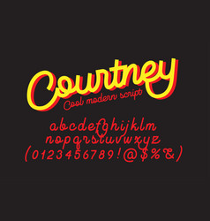 Courtney cool modern script font vector