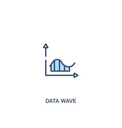data wave concept 2 colored icon simple line vector image