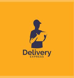delivery service logo design vector image