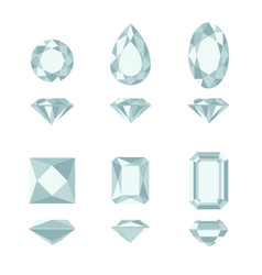 diamond and gemstone shapes vector image