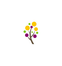 dot abstract tree logo vector image
