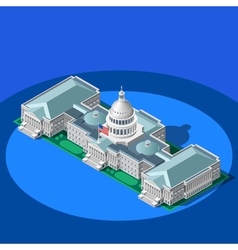 Election infographic capitol dome isometric vector