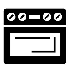 electric oven icon simple style vector image