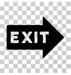 Exit arrow icon vector