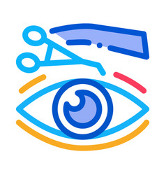 Eyelid surgery tool icon outline vector