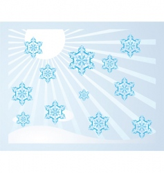 falling snowflakes vector image