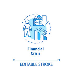 Financial crisis concept icon international stock vector