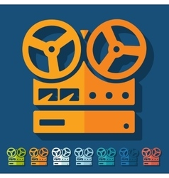 Flat design stereo recorder vector