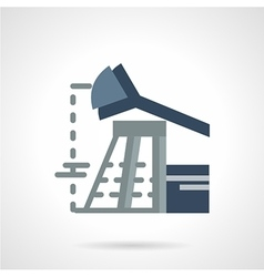 Flat icon for oil industry vector image