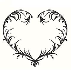 Flourishing heart vector image