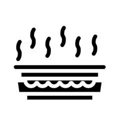 Gas smell glyph icon sign vector