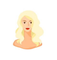 Girl with blond hair vector