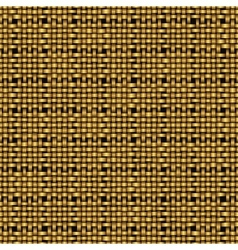 golden weave seamless background vector image